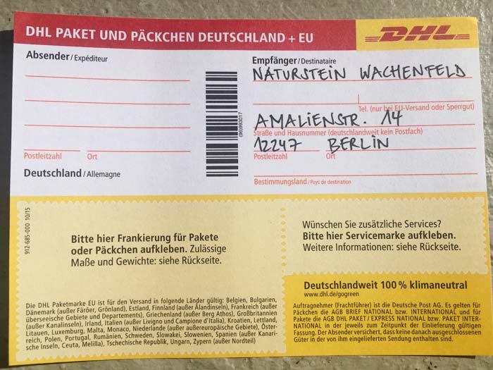 Natursteingestaltung in Berlin Zehlendorf - Kontakt